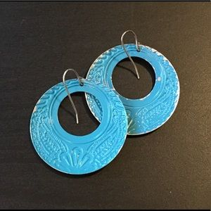 Francesca's Collections Jewelry - NWOT- blue boho filigree earrings